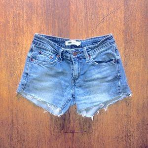 Levi's 518 Cut Off Denim Shorts